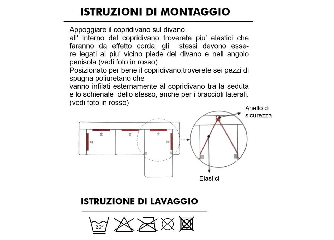 Copridivano-Con-Penisola-Chaise-Longue-Nero