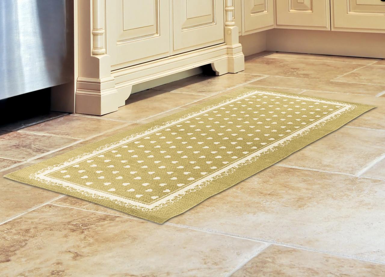 Tappeto da cucina in cotone modello cuori beige ebay - Tappeto da cucina ...