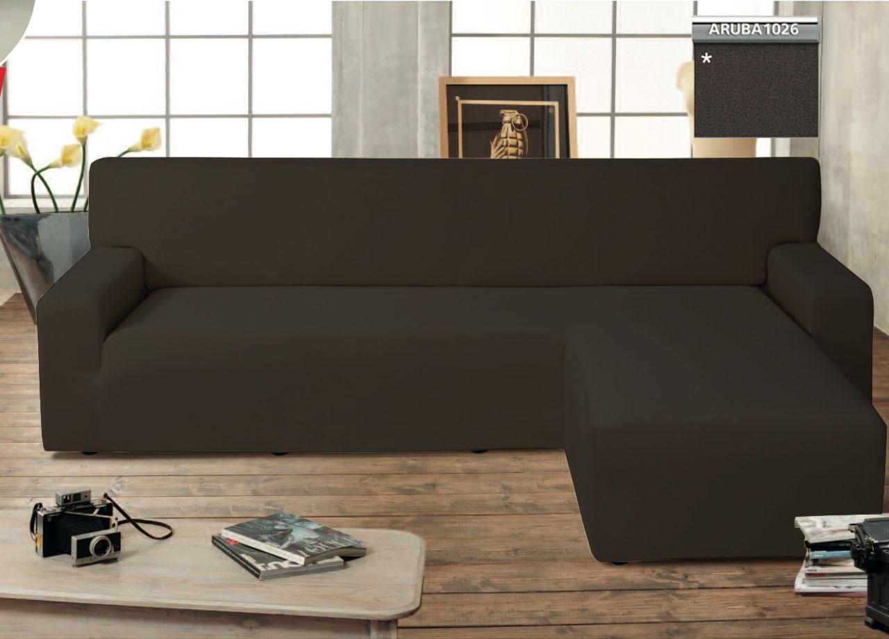Copridivano genius con penisola chaise longue modello - Copridivano per divano in pelle con chaise longue ...