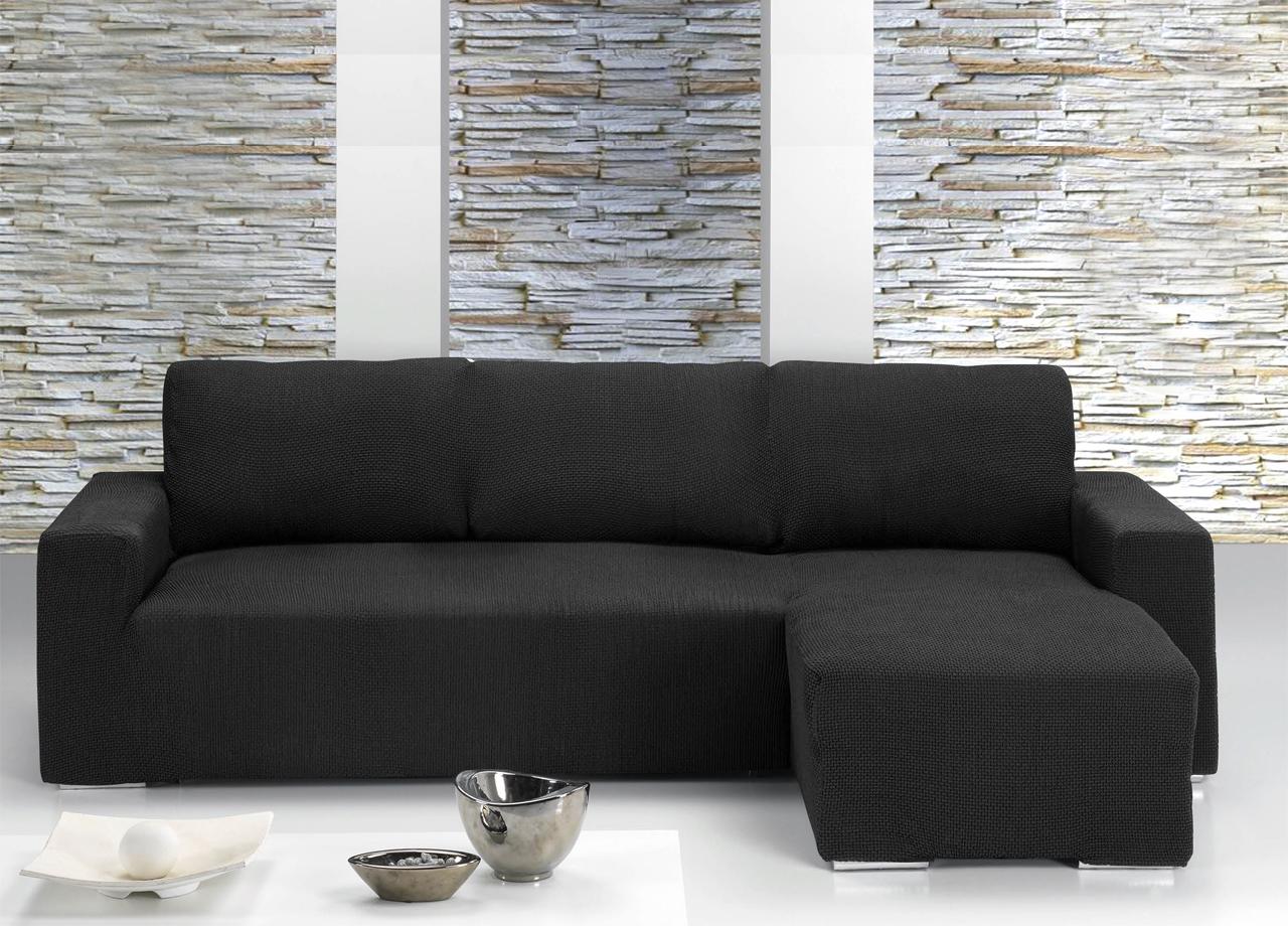 Copridivano con penisola chaise longue nero ebay - Copridivano per divano in pelle con chaise longue ...